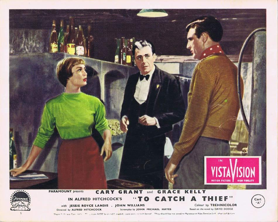 TO CATCH A THIEF Front of House Movie Still 5 Vintage 8 x 10 Cary Grant Alfred Hitchcock