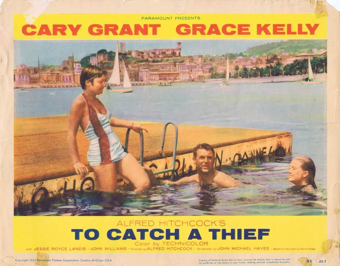 TO CATCH A THIEF Lobby Card 1 Alfred Hitchcock Cary Grant Grace Kelly