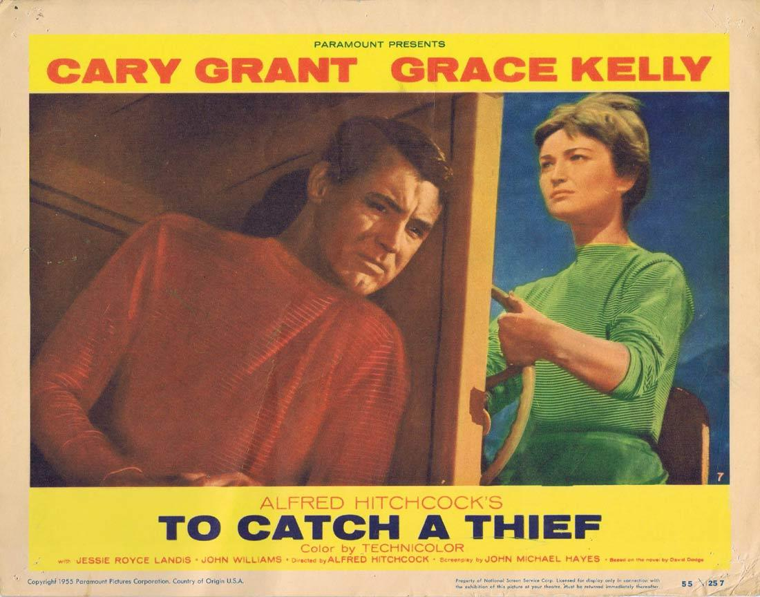TO CATCH A THIEF Lobby Card 7 Alfred Hitchcock Cary Grant Grace Kelly