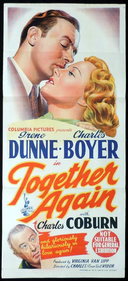 TOGETHER AGAIN Original Daybill Movie Poster Irene Dunne Charles Boyer