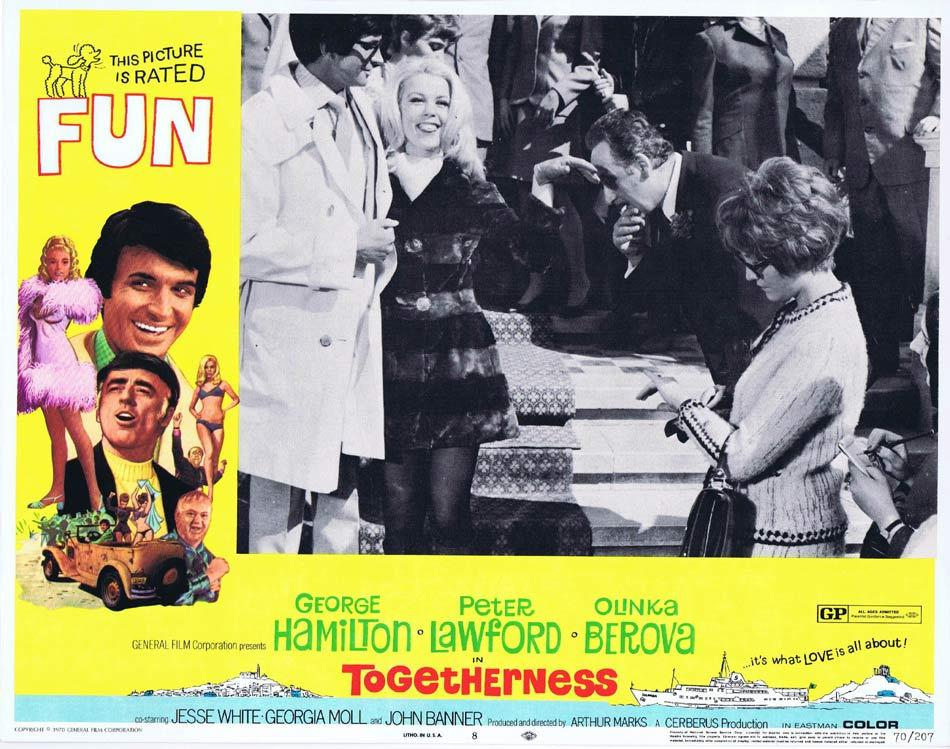 TOGETHERNESS, Lobby Card, George Hamilton, Peter Lawford, Olga Schoberová