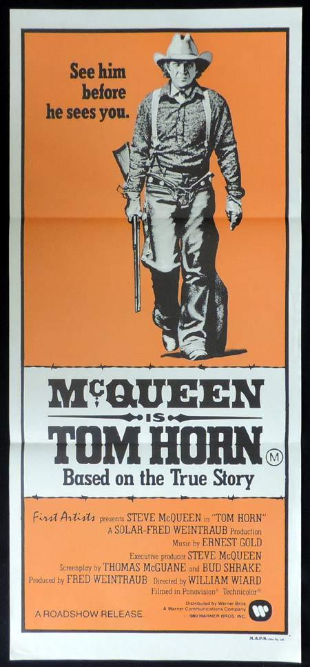TOM HORN Original Daybill Movie Poster Steve McQueen Richard Farnsworth