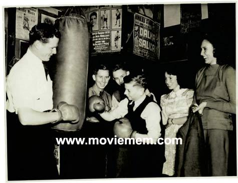 TOMMY BURNS c.1940s Rare BOXING Still BW photo 107