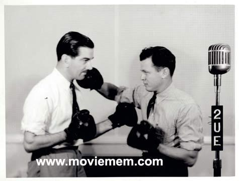 TOMMY BURNS c.1940s Rare BOXING Still BW photo 111 2UE Radio Studios Sydney