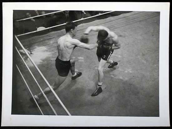 TOMMY BURNS c.1940s Rare BOXING Still BW photo 14