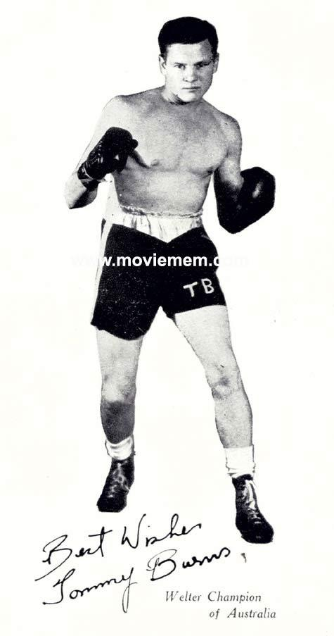 TOMMY BURNS c.1940s Rare BOXING Still BW photo 127