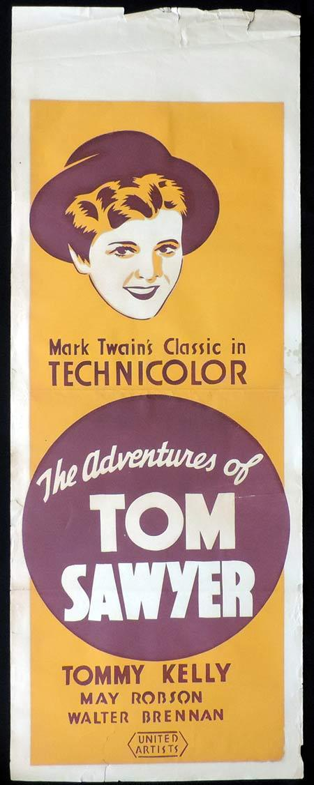 ADVENTURES OF TOM SAWYER Original Long Daybill Movie Poster Tommy Kelly May Robson