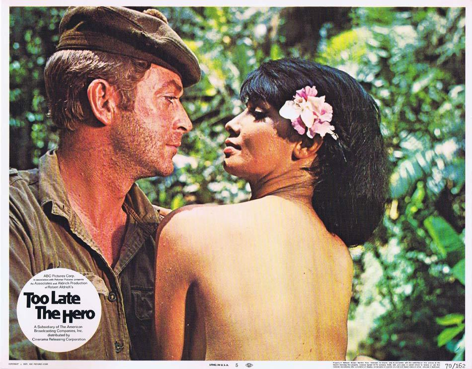 TOO LATE THE HERO Lobby Card 5 Michael Caine Henry Fonda Cliff Robertson