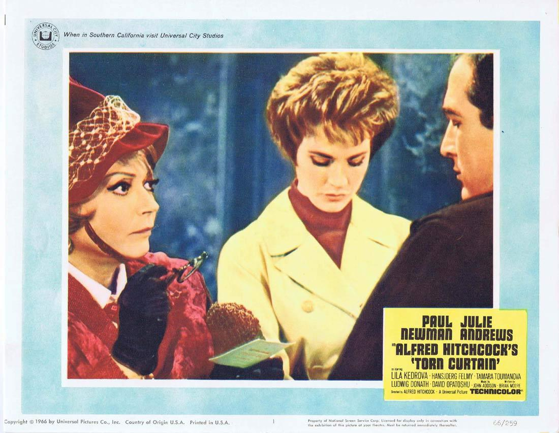 TORN CURTAIN Lobby card 1 Alfred Hitchcock Paul Newman Julie Andrews