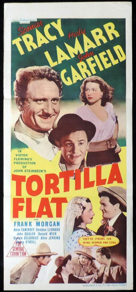TORTILLA FLAT Original Daybill Movie Poster Spencer Tracy Marchant Graphics