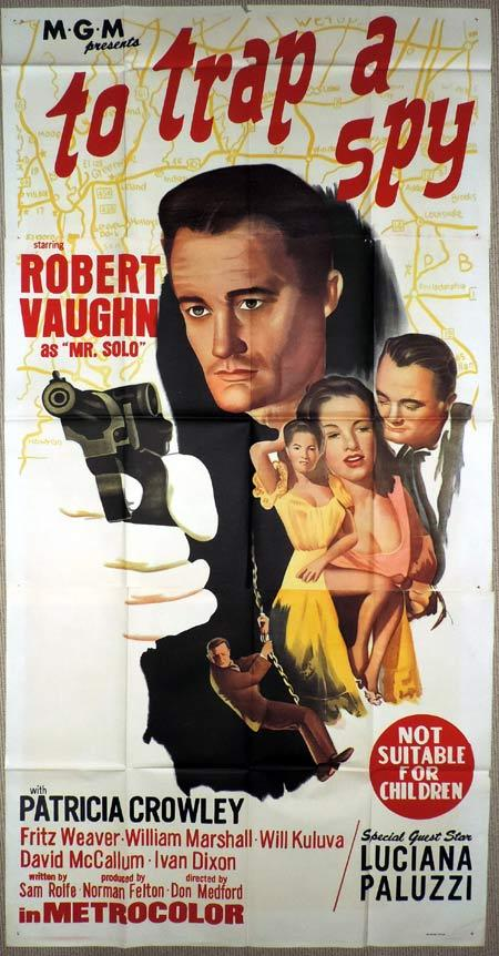 TO TRAP A SPY Original 3 Sheet Movie Poster Man From Uncle Robert Vaughn
