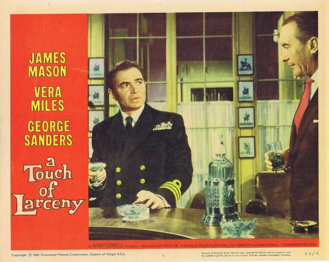 A TOUCH OF LARCENY Lobby Card 6 James Mason George Sanders Vera Miles