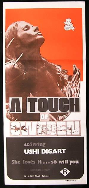 A TOUCH OF SWEDEN aka PASTRIES Daybill Movie poster 1971 Sexploitation