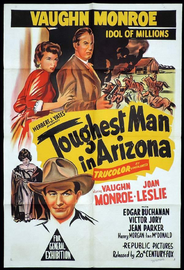 TOUGHEST MAN IN ARIZONA One Sheet Movie Poster Vaughn Monroe