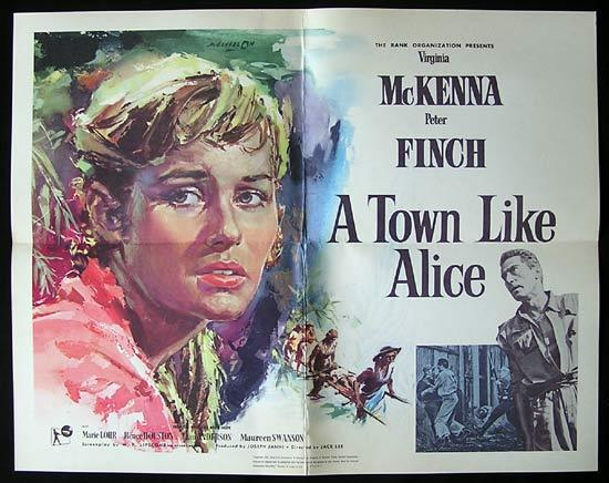 A TOWN LIKE ALICE Movie poster 1956 Classic AUSTRALIAN FILM Rare US Half Sheet