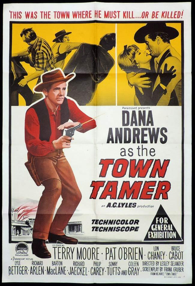 TOWN TAMER One Sheet Movie Poster Dana Andrews