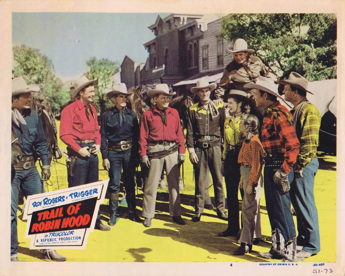 TRAIL OF ROBIN HOOD Lobby Card 4 Roy Rogers Trigger Dale Evans