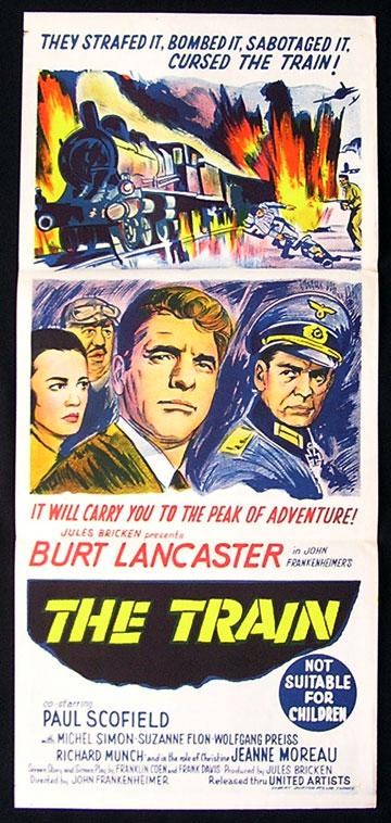 the train original daybill movie poster burt lancaster