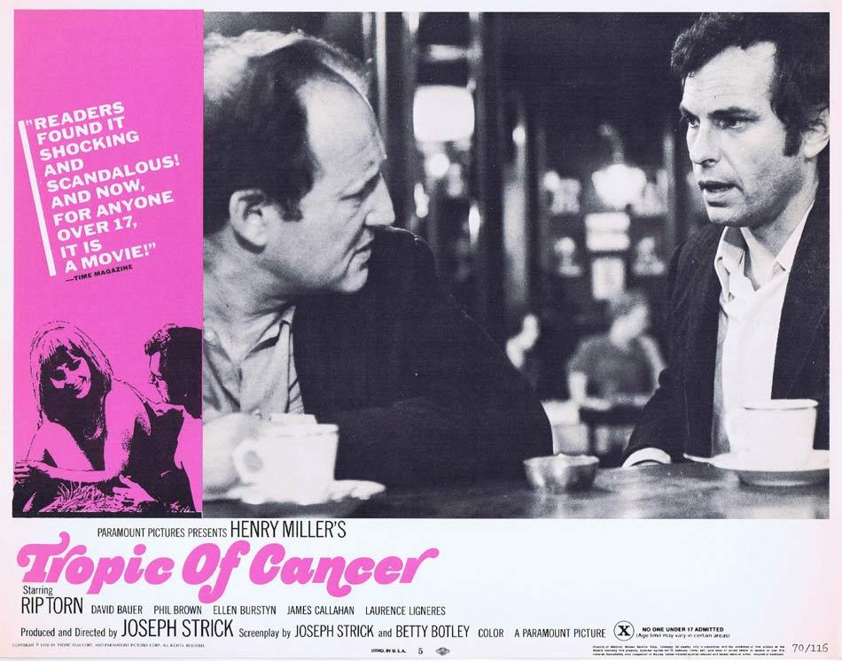 TROPIC OF CANCER Lobby Card 5 Rip Torn James T. Callahan David Baur