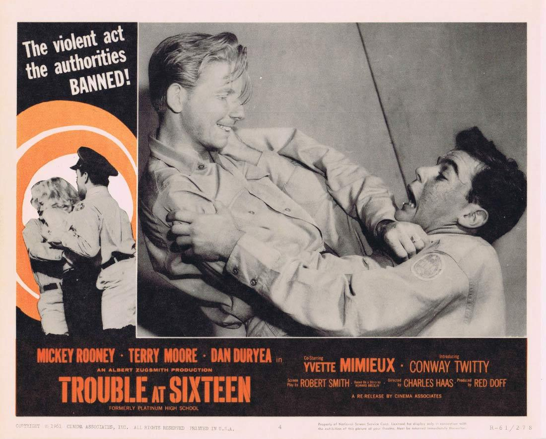 TROUBLE AT SIXTEEN Lobby Card 4 Mickey Rooney Terry Moore Yvette Mimieux 1961r