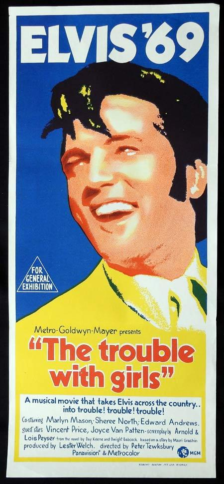 THE TROUBLE WITH GIRLS Original Daybill Movie Poster Elvis Presley