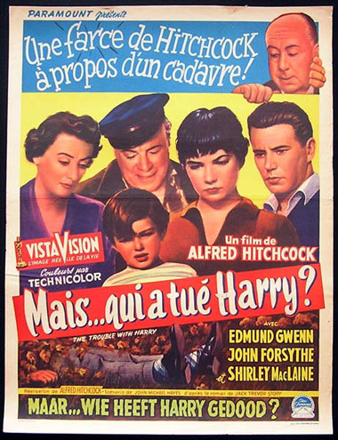 TROUBLE WITH HARRY '55 Hitchcock ORIGINAL poster