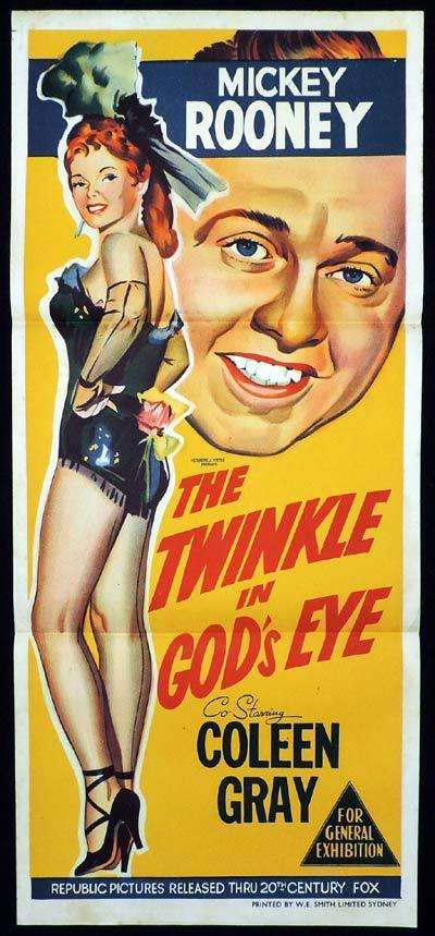 THE TWINKLE IN GOD'S EYE Original Daybill Movie Poster Clifton Webb