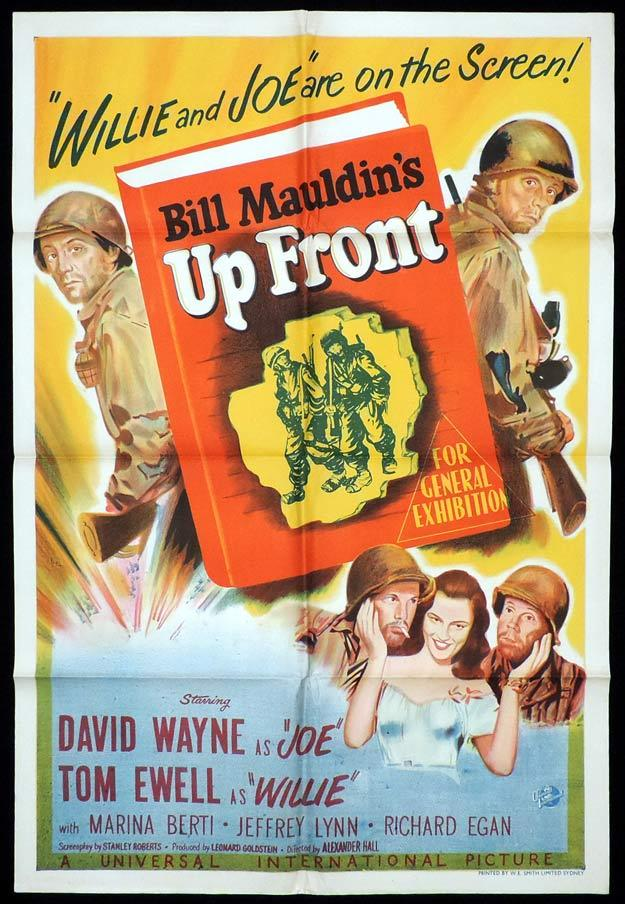 UP FRONT One sheet Movie poster Tom Ewell David Wayne