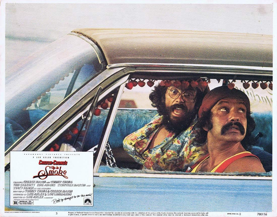 UP IN SMOKE Vintage Lobby Card 3 Cheech and Chong Drug Use