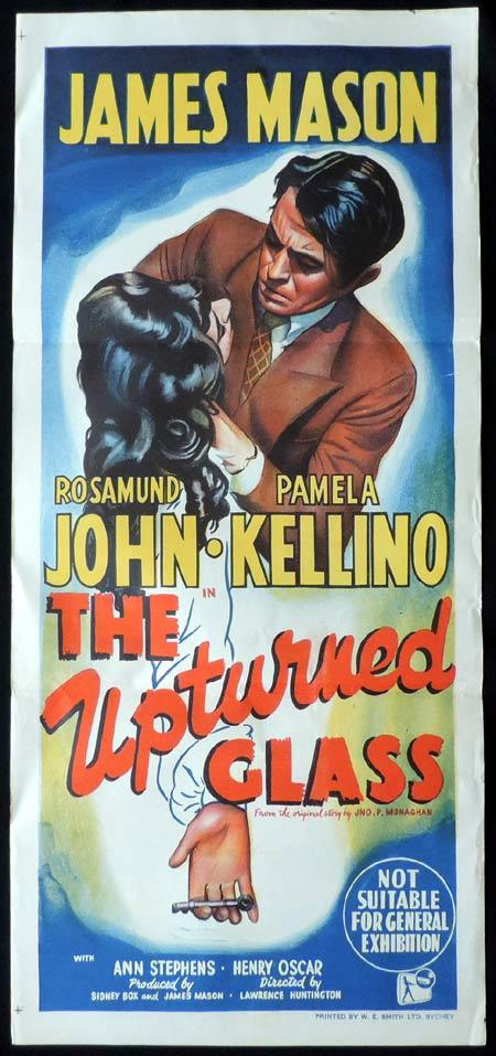 THE UPTURNED GLASS Original Daybill Movie Poster James Mason Film Noir