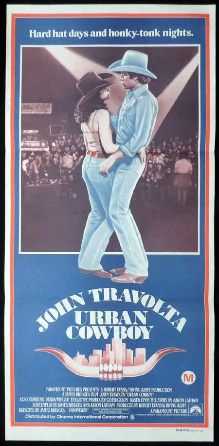 URBAN COWBOY Original Daybill Movie Poster John Travolta Debra Winger