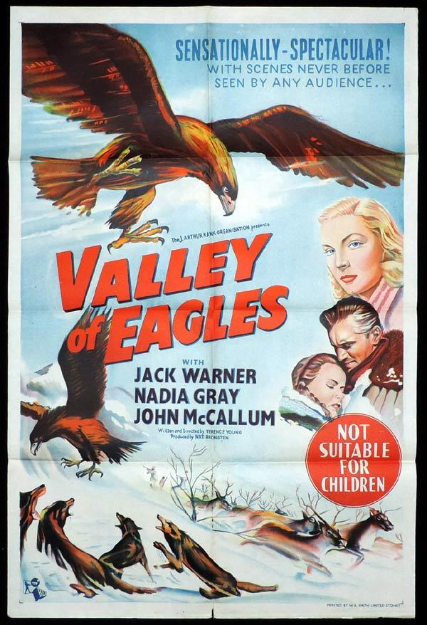 VALLEY OF EAGLES One Sheet Movie Poster Jack Warner Lapland