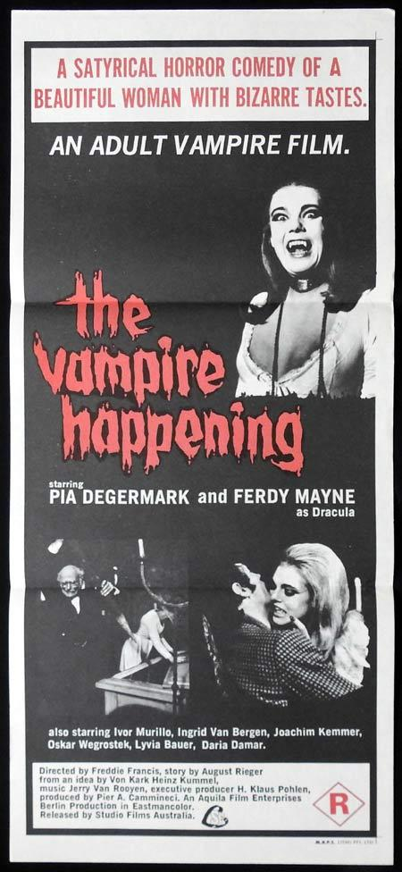 The VAMPIRE HAPPENING Original daybill Movie Poster Freddie Francis
