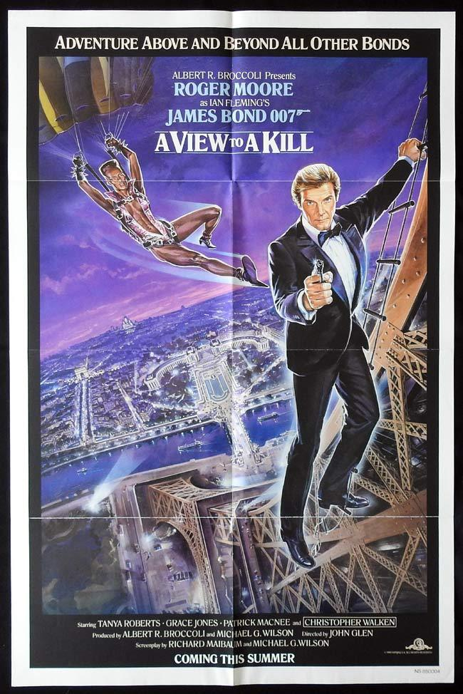 A VIEW TO A KILL Original Advance US One sheet Movie poster 1985 James Bond Roger Moore
