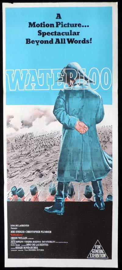 WATERLOO Original Daybill Movie Poster Rod Steiger Napoleon