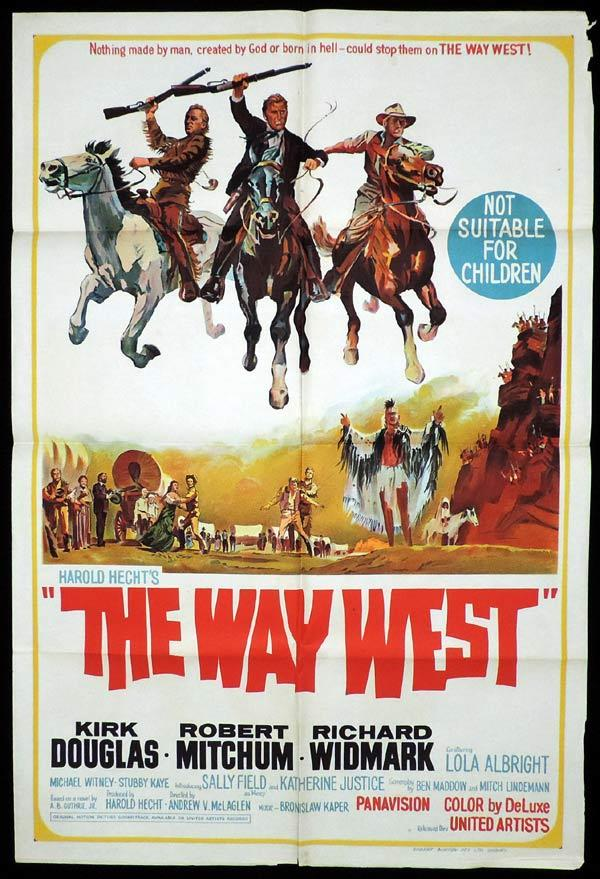 THE WAY WEST One Sheet Movie Poster Kirk Douglas Western