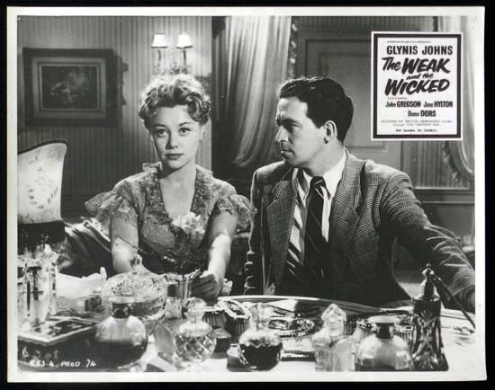 THE WEAK AND THE WICKED 1954 John Gregson Rare British Film Noir Lobby Card 2