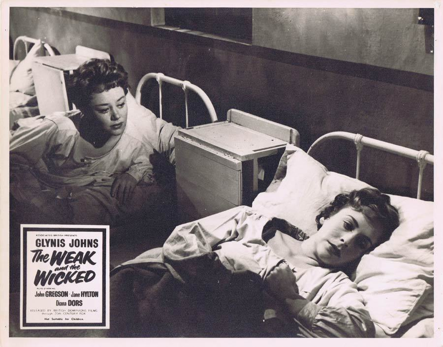 THE WEAK AND THE WICKED 1954 Glynis Johns Rare British Film Noir Lobby Card 6