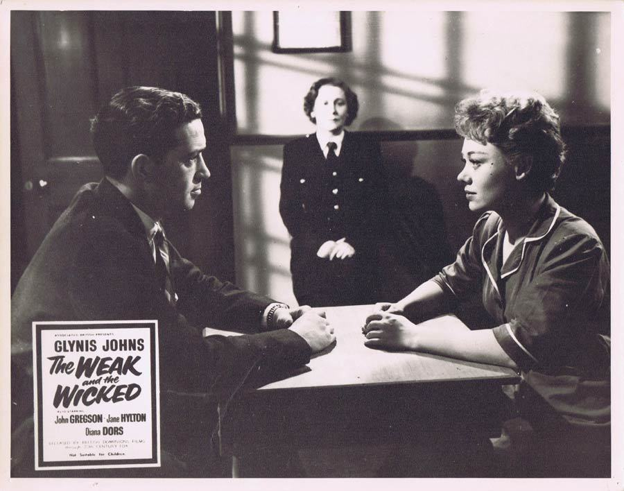 THE WEAK AND THE WICKED 1954 Glynis Johns Rare British Film Noir Lobby Card 7