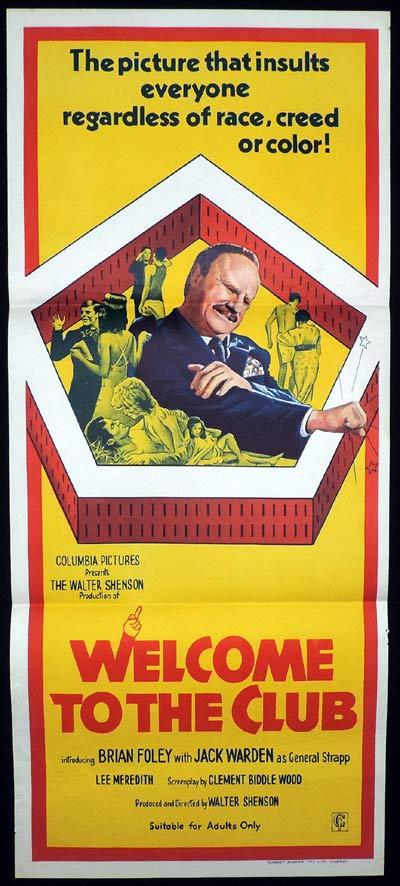 WELCOME TO THE CLUB Original Daybill Movie Poster Jack Warden Brian Foley