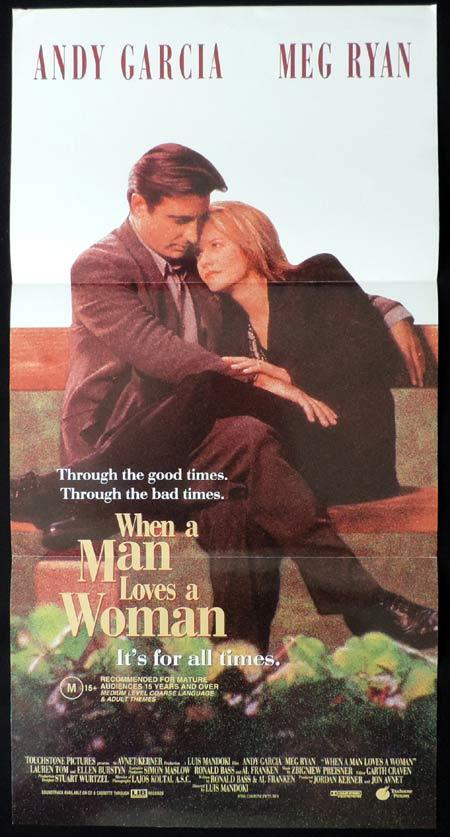 WHEN A MAN LOVES A WOMAN Original Daybill Movie Poster Andy Garcia Meg Ryan
