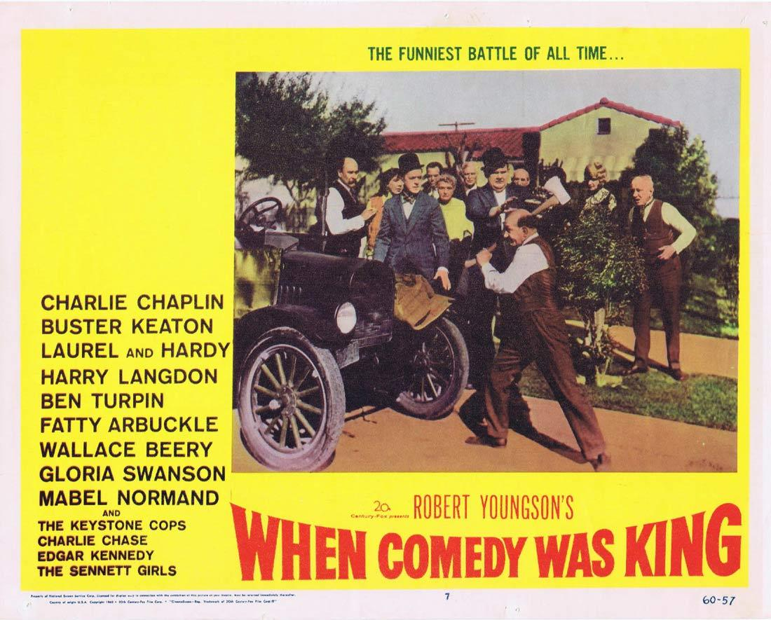 When Comedy Was King, Robert Youngson, Charles Chaplin, Buster Keaton, Oliver Hardy, Stan Laurel, Roscoe 'Fatty' Arbuckle, Wallace Beery, Charley Chase, Edgar Kennedy, Keystone Kops, Mabel Normand, The Sennett Girls, Gloria Swanson, Ben Turpin, Billy Bevan