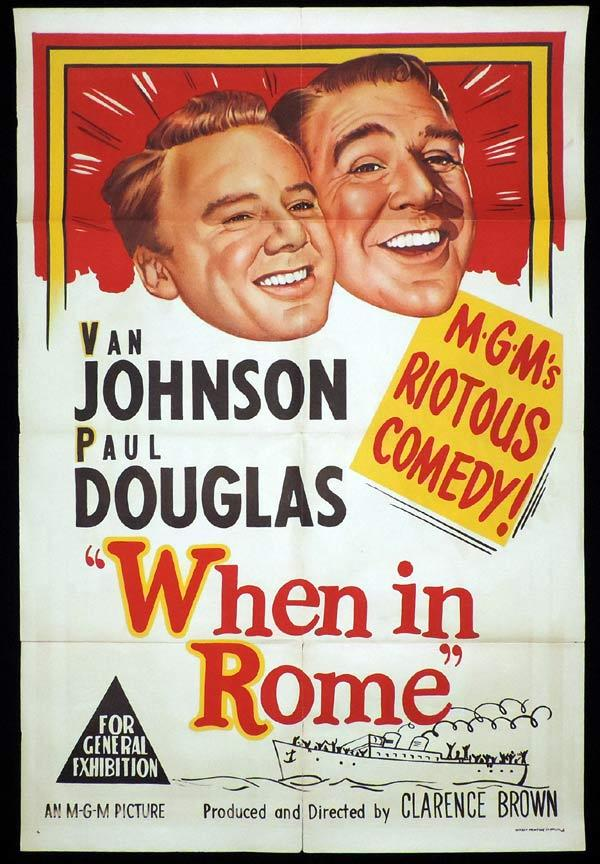 WHEN IN ROME One Sheet Movie Poster Dean Martin