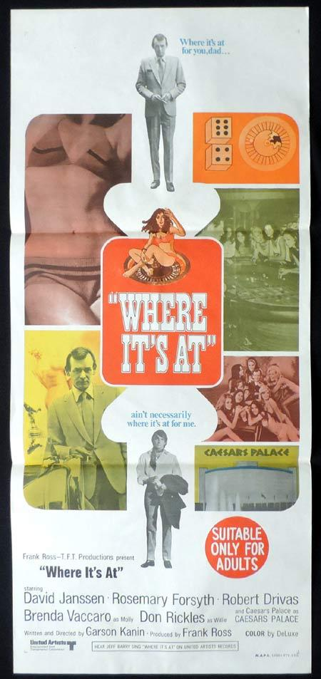WHERE ITS AT Original Daybill Movie Poster David Janssen