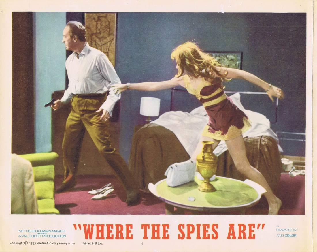 WHERE THE SPIES ARE Lobby Card 4 David Niven Françoise Dorléac John Le Mesurier