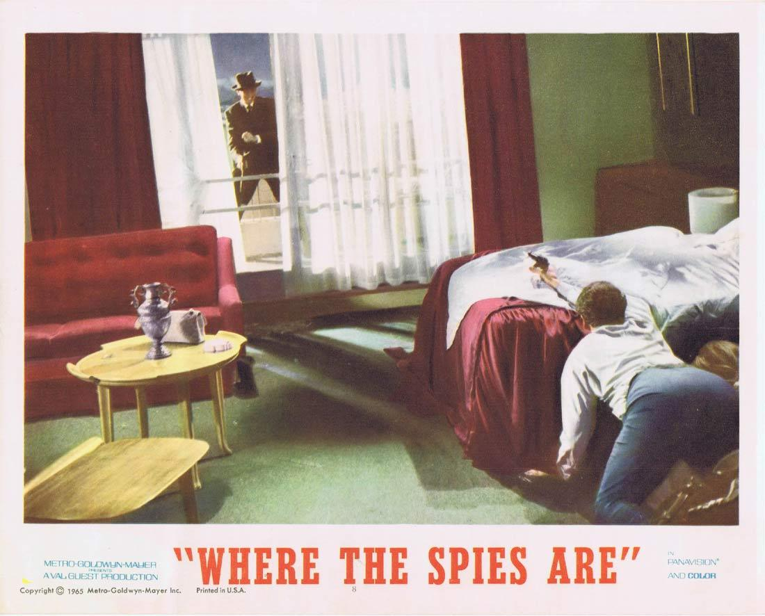 WHERE THE SPIES ARE Lobby Card 8 David Niven Françoise Dorléac John Le Mesurier
