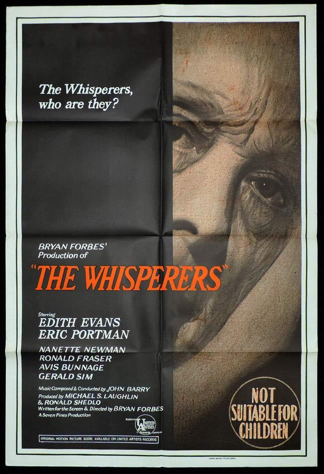 THE WHISPERERS One Sheet Movie Poster Bryan Forbes Eric Portman