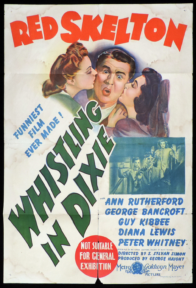 WHISTLING IN DIXIE One Sheet Movie Poster Red Skelton