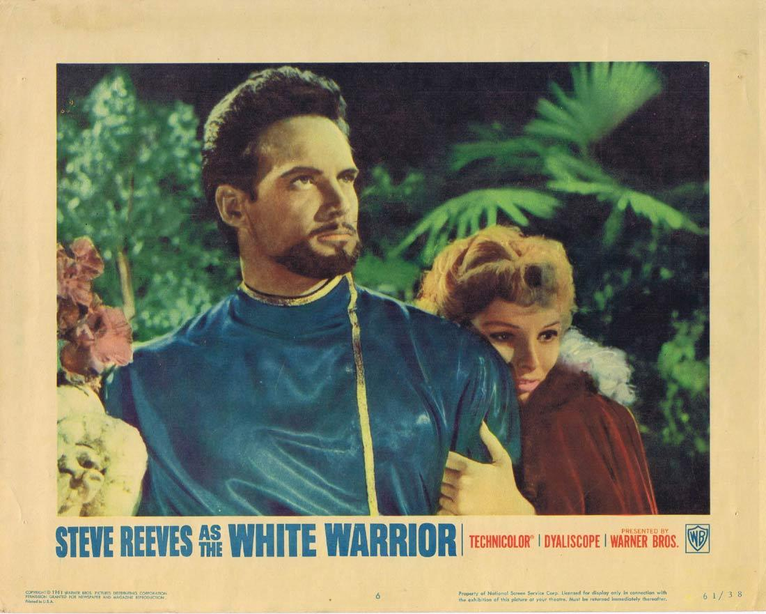 THE WHITE WARRIOR Lobby Card 6 Steve Reeves