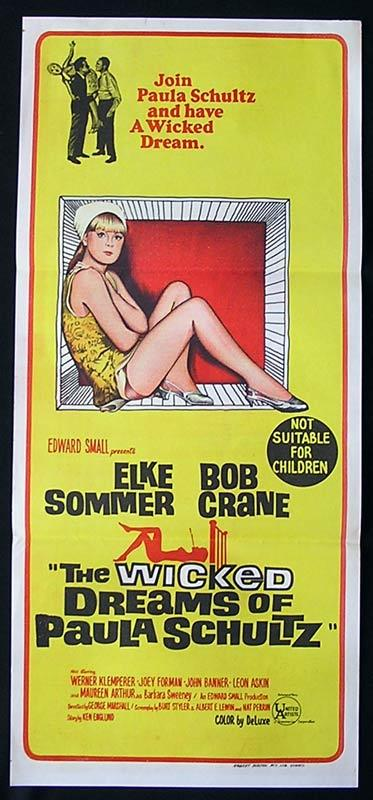 THE WICKED DREAMS OF PAULA SCHULZ Daybill Movie Poster Elke Sommer